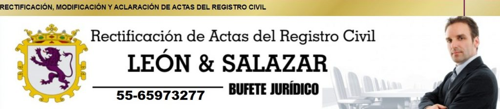 rectificacion de actas del registro civil