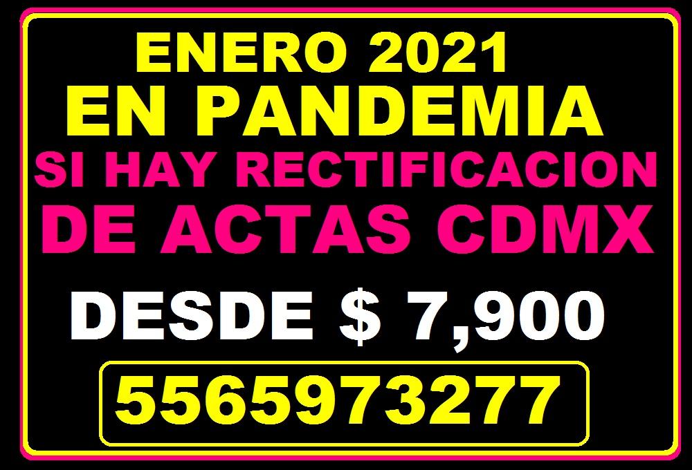 rectificacion de actas cdmx pandemia