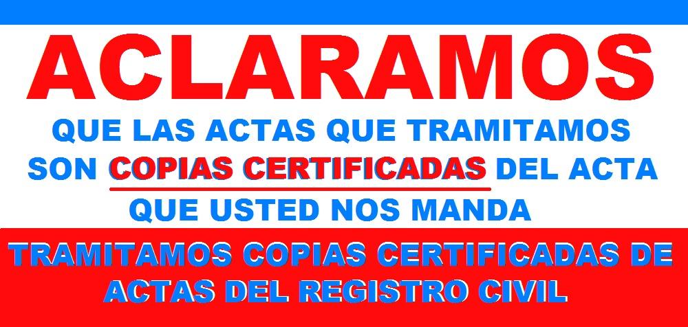 tramitacion de copias certificadas del registro civil cdmx y edomex